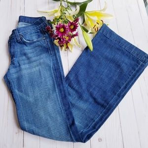 7 FOR ALL MANKIND DOJO FLARE JEANS SIZE 25